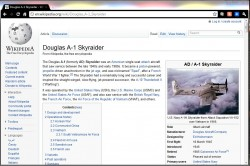 Wikipedia Page: Douglas A-1 Skyraider (image), click to visit Wikipedia entry on Skyraider