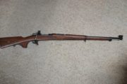 Mauser - Swedish 96, 6.5 X 55 rifle.  $1,200.00