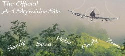"""Click to visit the """"Official Site of the A-1 Skyraider"""""""
